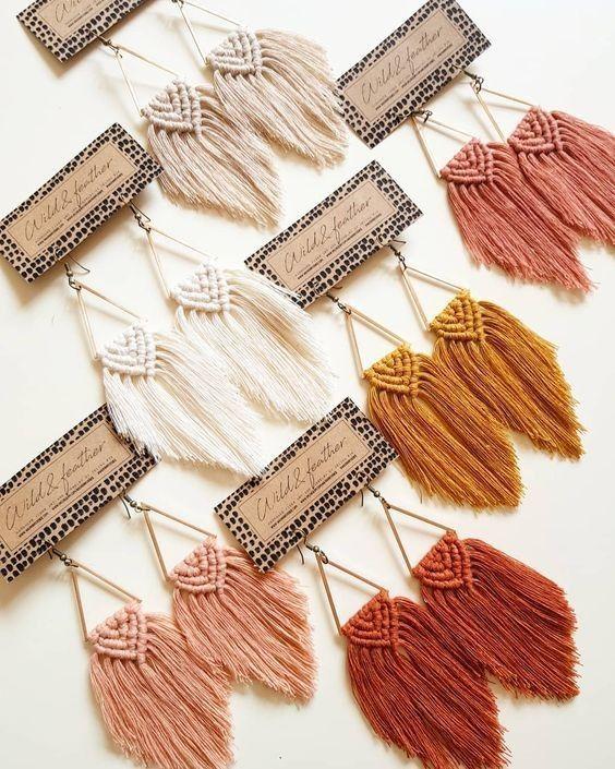 DIY Macrame Feathers homedecor design  #design #DIY #feathers #homedecor #macrame