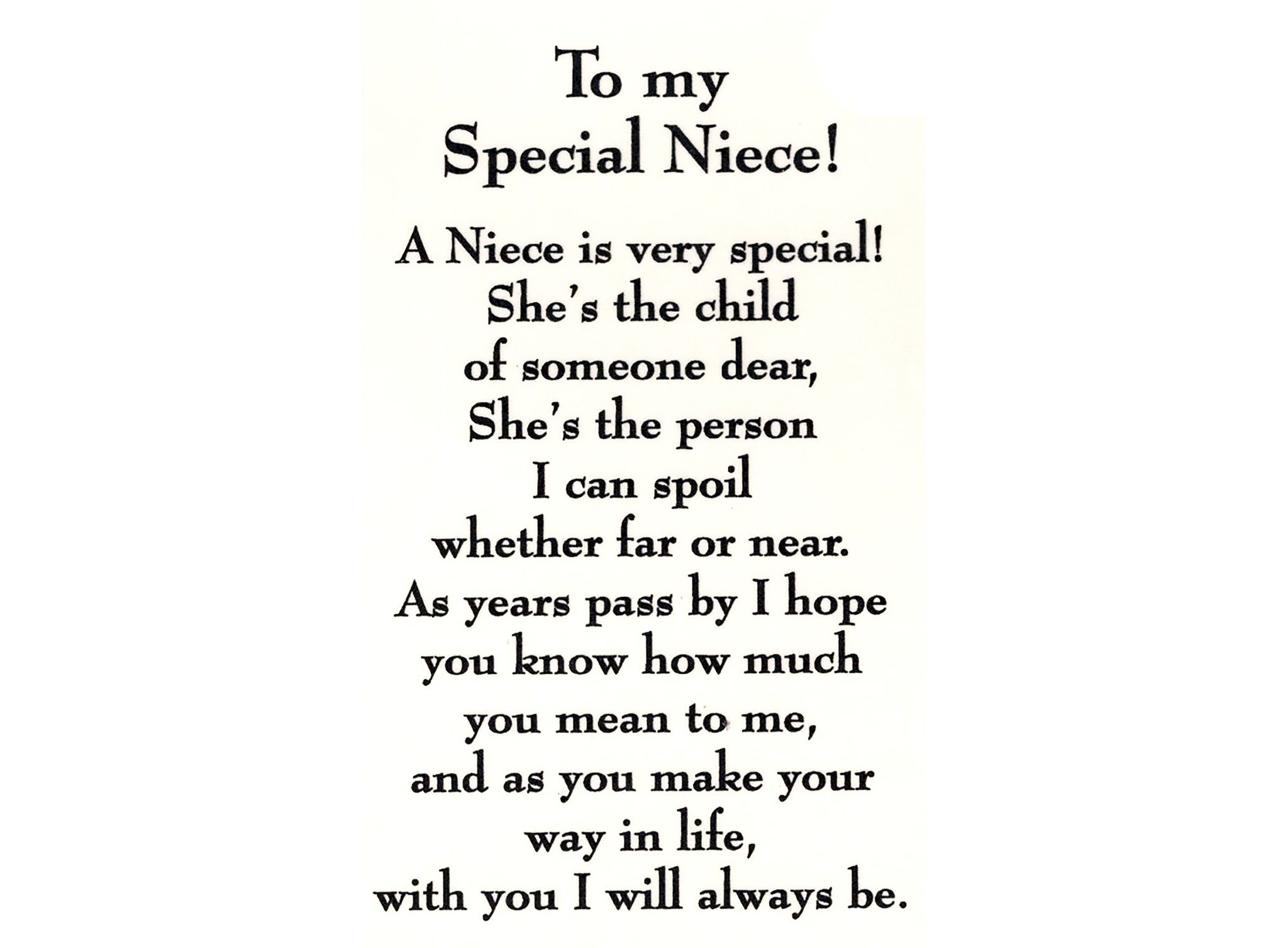 Z 4 O Special Niece  Niece quotes, Words, Sign quotes
