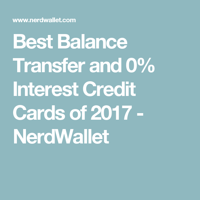 Best Balance Transfer And 0% APR Credit Cards Of October