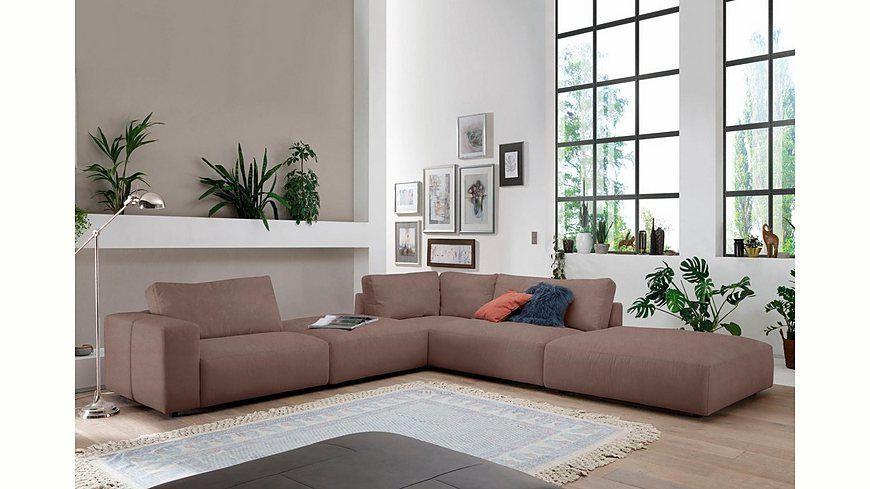 GALLERY M Polsterecke »Lucia« in vielen Farben und Qualitäten Jetzt - Wohnzimmer In Weis Und Braun