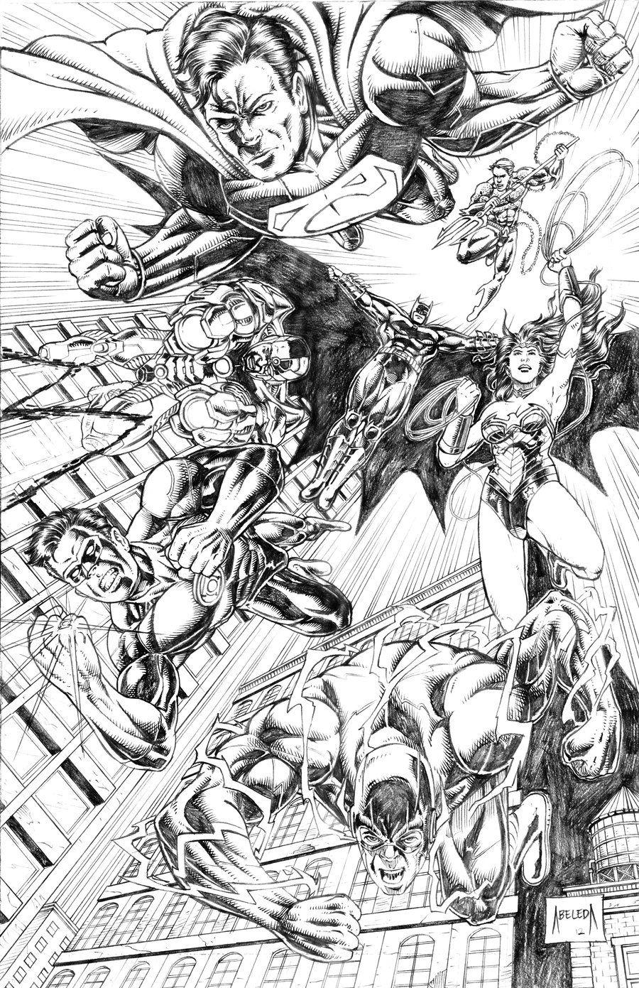 Justice League By Mannieboy On Deviantart Superhero Coloring Pages Justice League Superhero Coloring