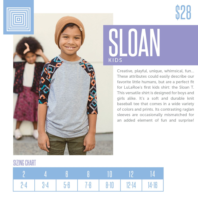 Lularoe Kid/'s Sloan Tee Size 12 2 Different Prints