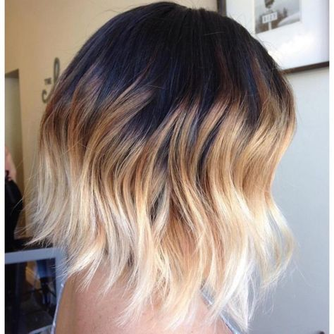 30 Spectacular Black Ombre Hair Ideas Colors Of Midnight With Images Blonde Ombre Short Hair Short Ombre Hair Short Dark Hair