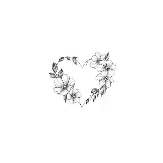Photo of Heart Flower Tattoo