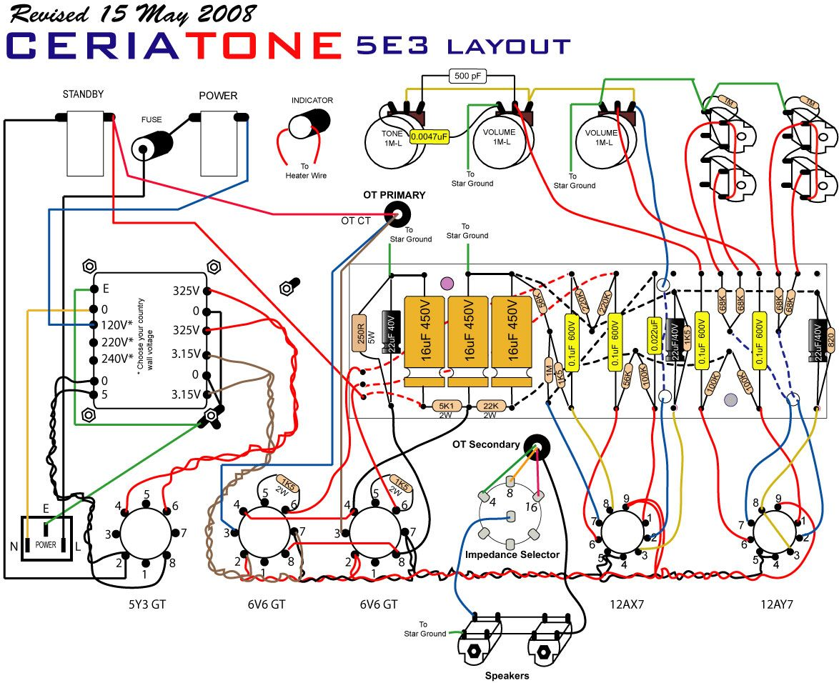 Fender Deluxe Layout - Google Search