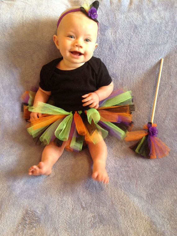 Girls Halloween costume, Witch ostume, first halloween outfit, witch - trajes de halloween para bebes