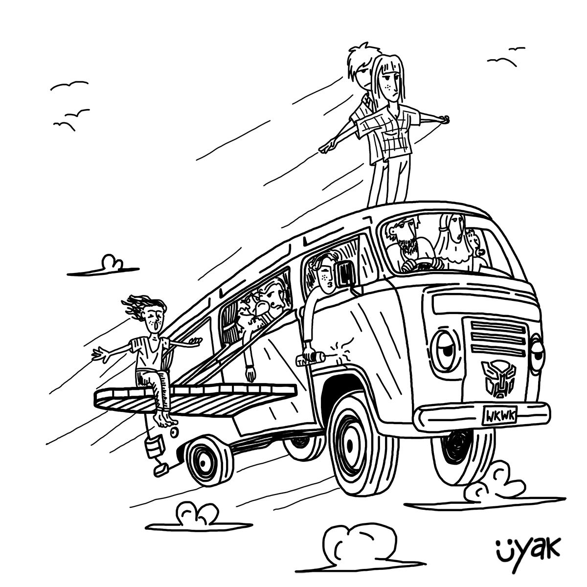 When The Traffic Jam Arrived It S Simple Just Go Fly Away Hahahaha Illustration Cartoon Drawing Character Futuristic Transportation