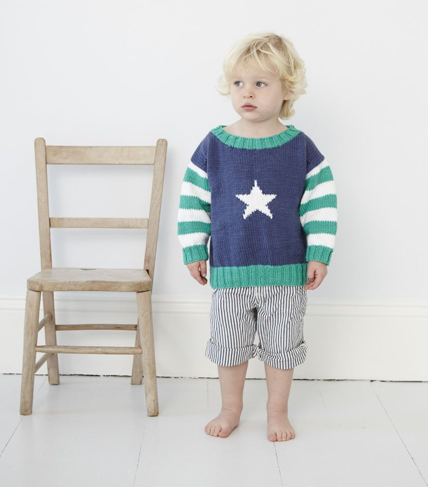 204542b29 Star Jumper in Debbie Bliss Cotton DK Downloadable PDF Knitting