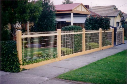wire fence ideas. Wooden Fence With Woven Wire - Ideas P