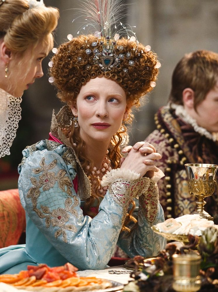 Cate Blanchett as Queen Elizabeth I in Elizabeth: The Golden Age (2007).