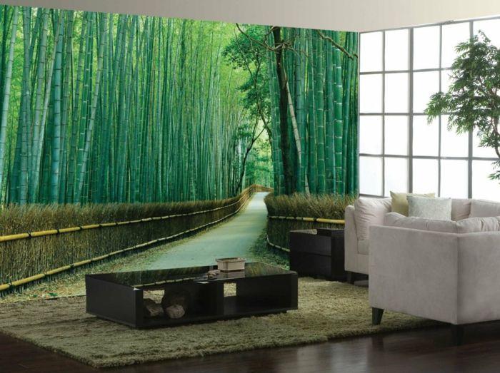Superb dekoideen deko aus bambus wanddeko fototapete