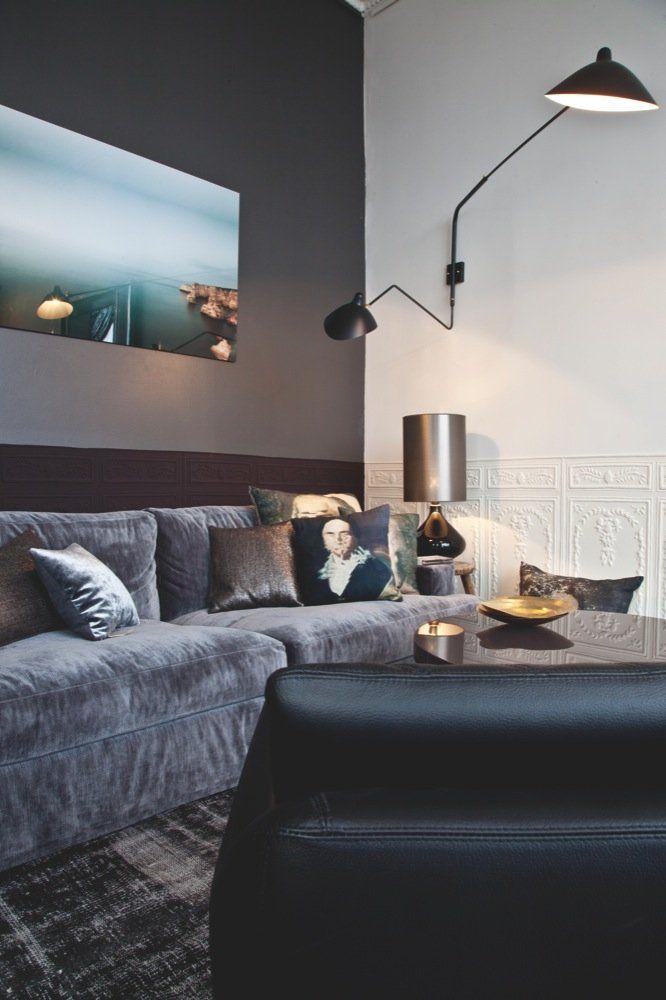 Dekadent ungkarlehybel | Husdesign, Home deco, Stue belysning