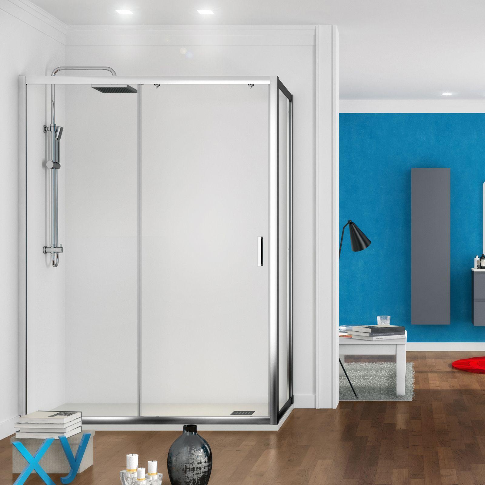 Box doccia porta fissa + anta scorrevole 70x120 cm h 200