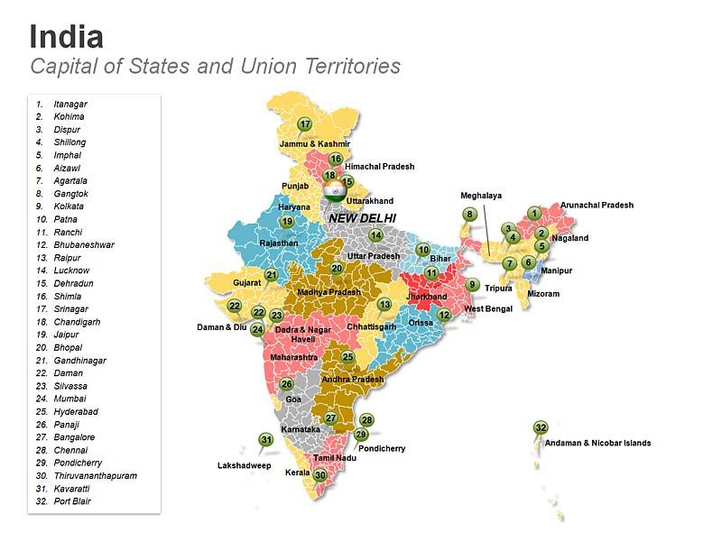 editable map of india with districts