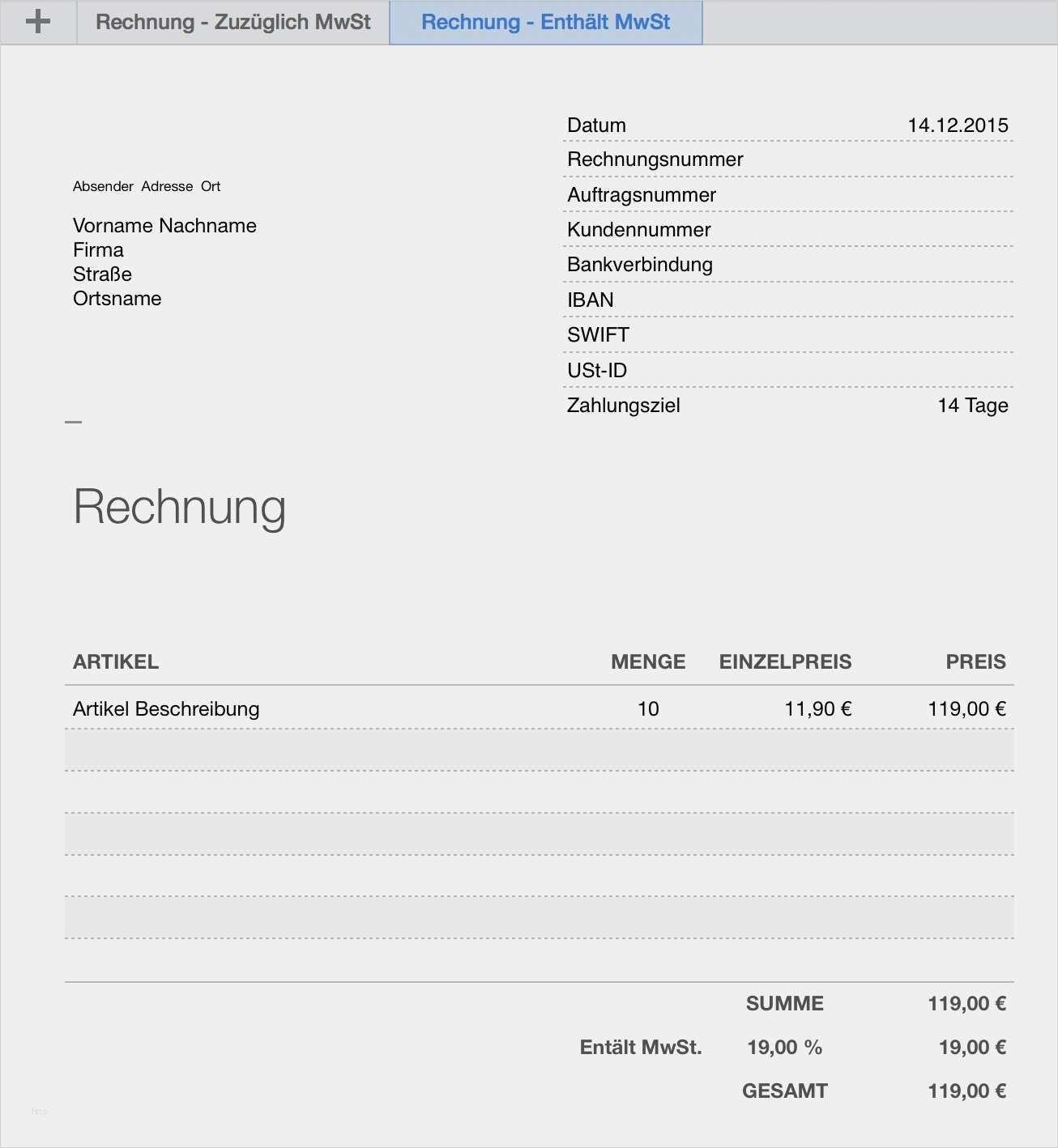 34 Erstaunlich Rechnung Mit Mehrwertsteuer Vorlage Galerie Rechnung Vorlage Vorlagen Lebenslauf Vorlagen Word