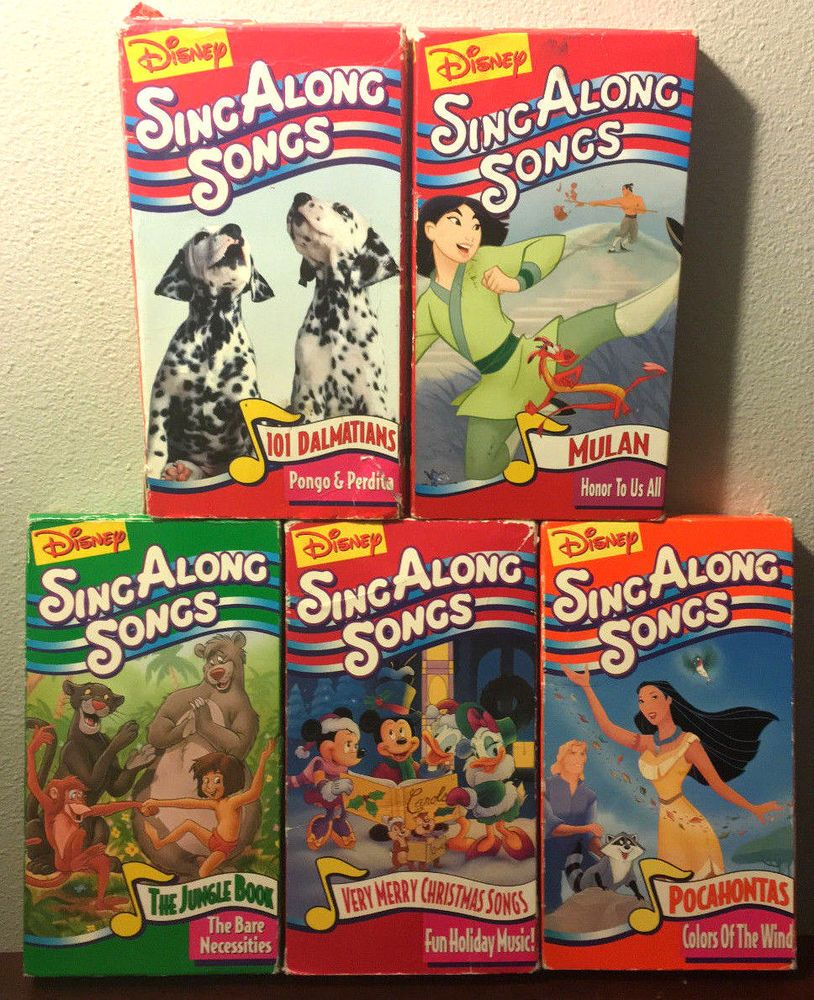 b088d7bbe Disney Sing Along Songs Lot Of 5 VHS (Bare Necessities