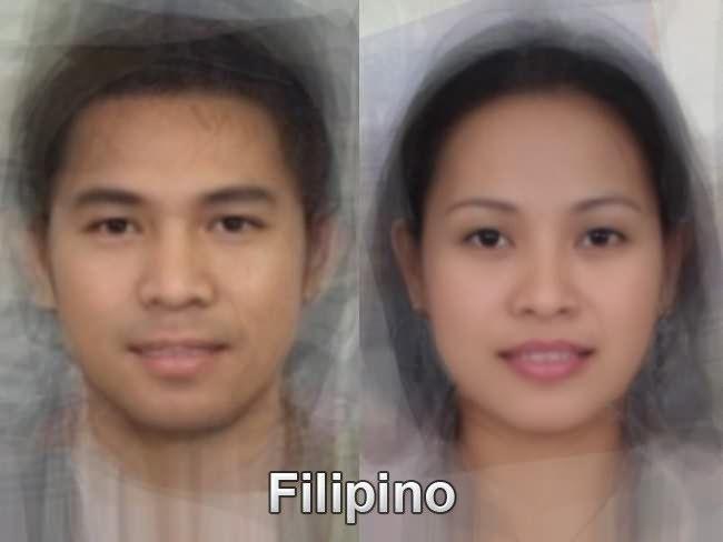 Filipino facial features
