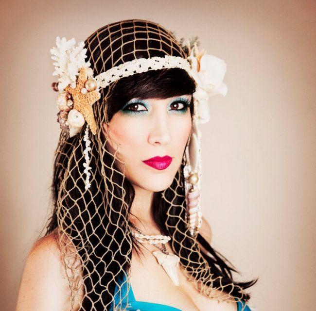 Unterwasser Kostum Meerjungfrau Accessoires Fischernetz Karneval