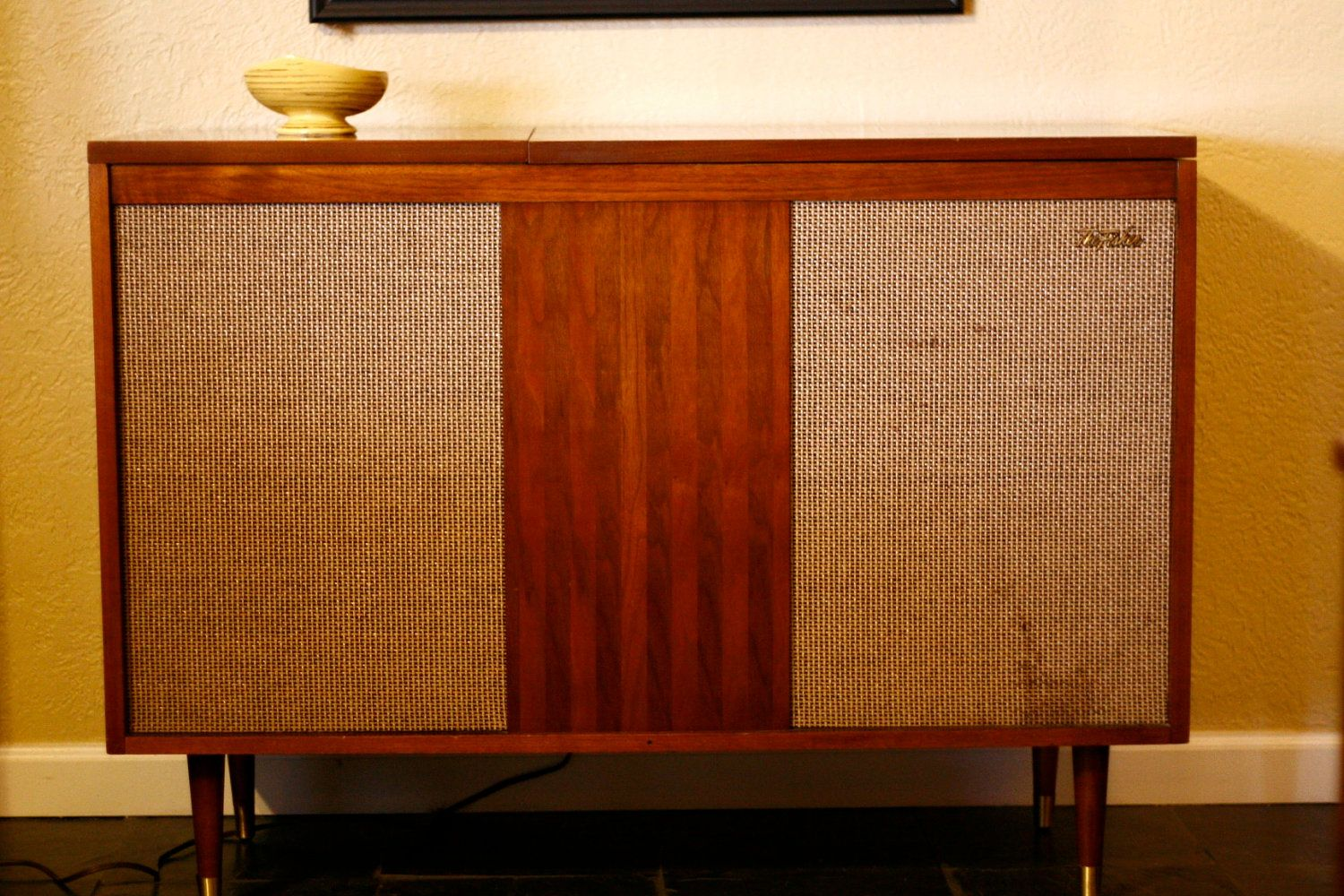Cabinet Record Player Mid Century Modern Fisher Stereo Cabinet Or Side Table Working