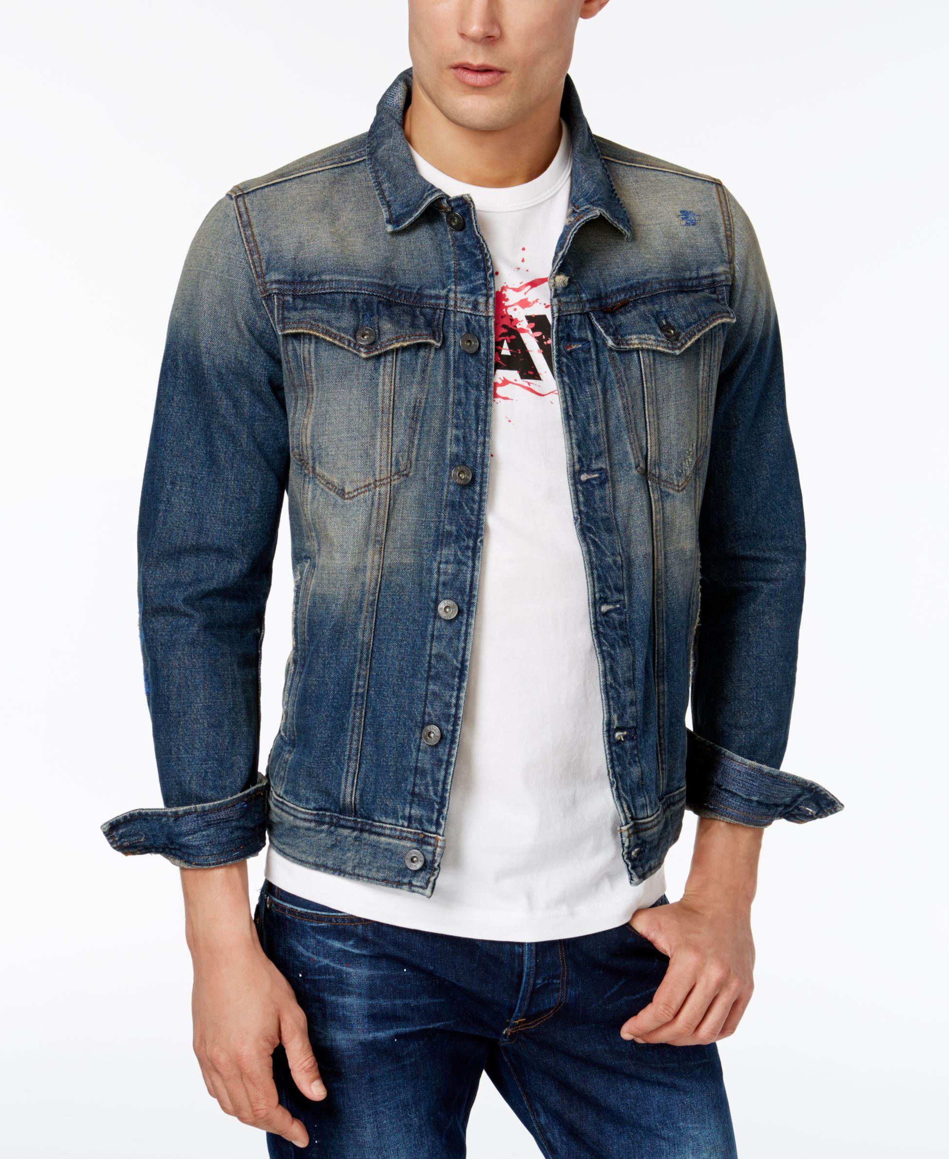 G Star Raw Men's Slim Fit Vintage Denim Jacket | Vintage