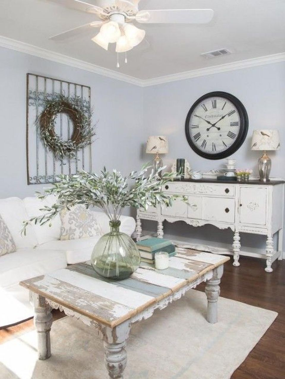 70 Vintage Shabby Chic Living Room Decorations Ideas | Home ...