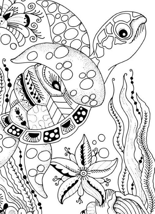 Spectrum Noir Colorista 5x7 Marker Pad Under The Sea Turtle Coloring Pages Coloring Pages Animal Coloring Pages