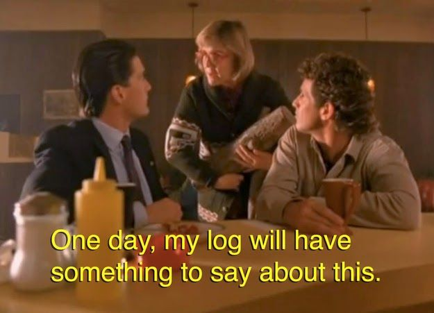 One day, my log will have something to say about this #loglady #damngoodcoffee #twinpeaks www.thebrighterwriter.blogspot.com