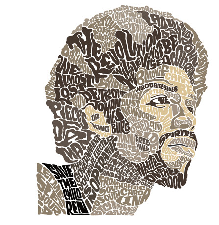 face made of words - Google Search | Typography portrait ...