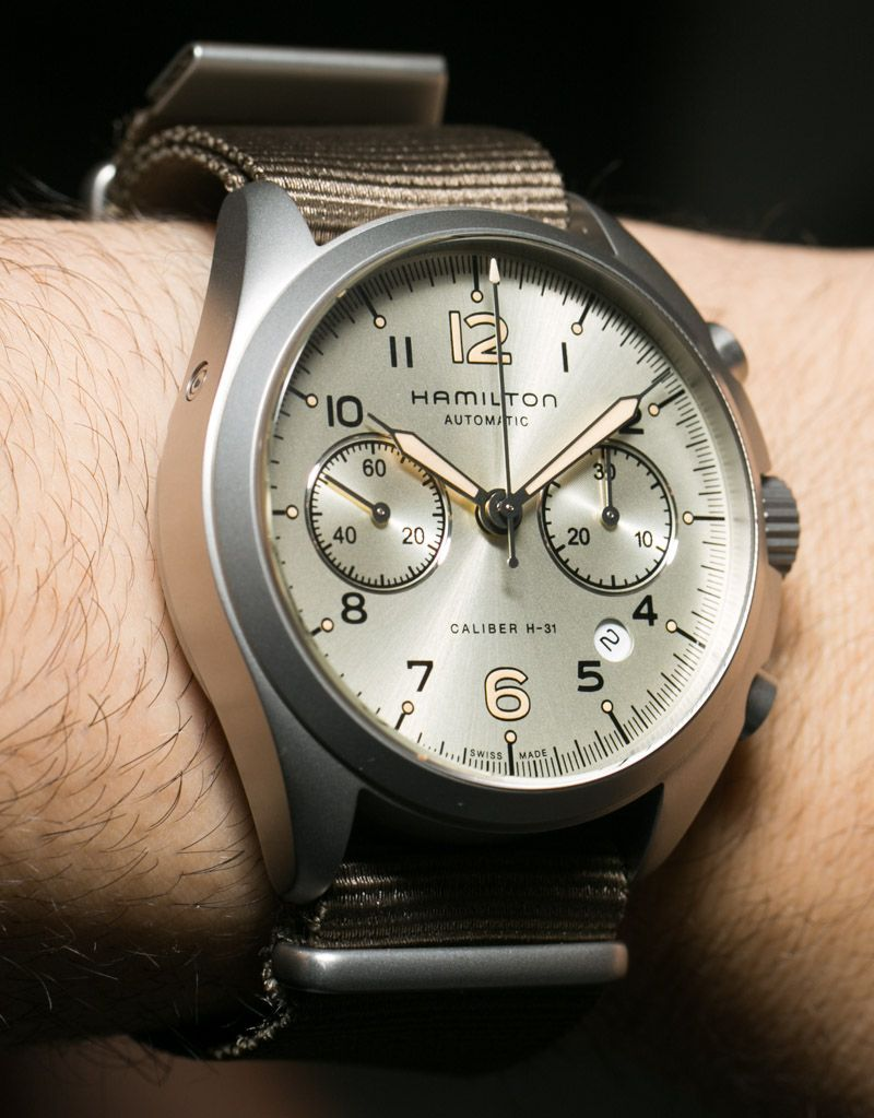 f693eaf50 Hamilton Khaki Pilot Pioneer Auto Chrono Watch Hands On hamilton ...