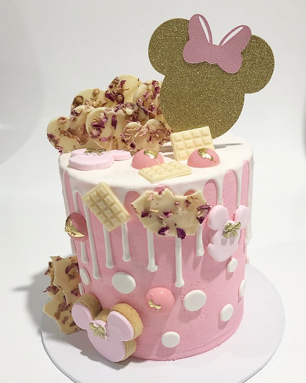 Minnie Mouse 1st Cake Topper Anniversaire