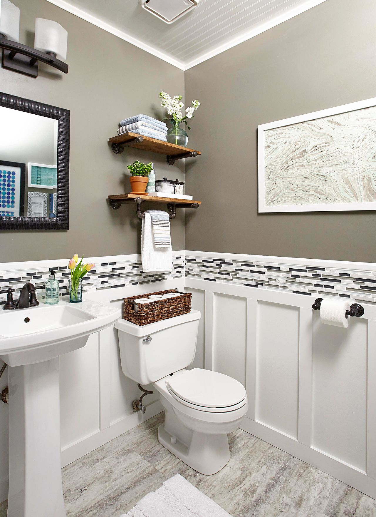 Clever Ways To Make The Most Of Your Half Bath Small Half Bathrooms Small Bathroom Half Bathroom Decor