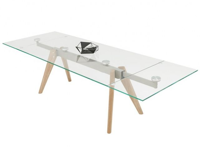 Table verre rallonge boconcept mobiliers pinterest for Table verre rallonge