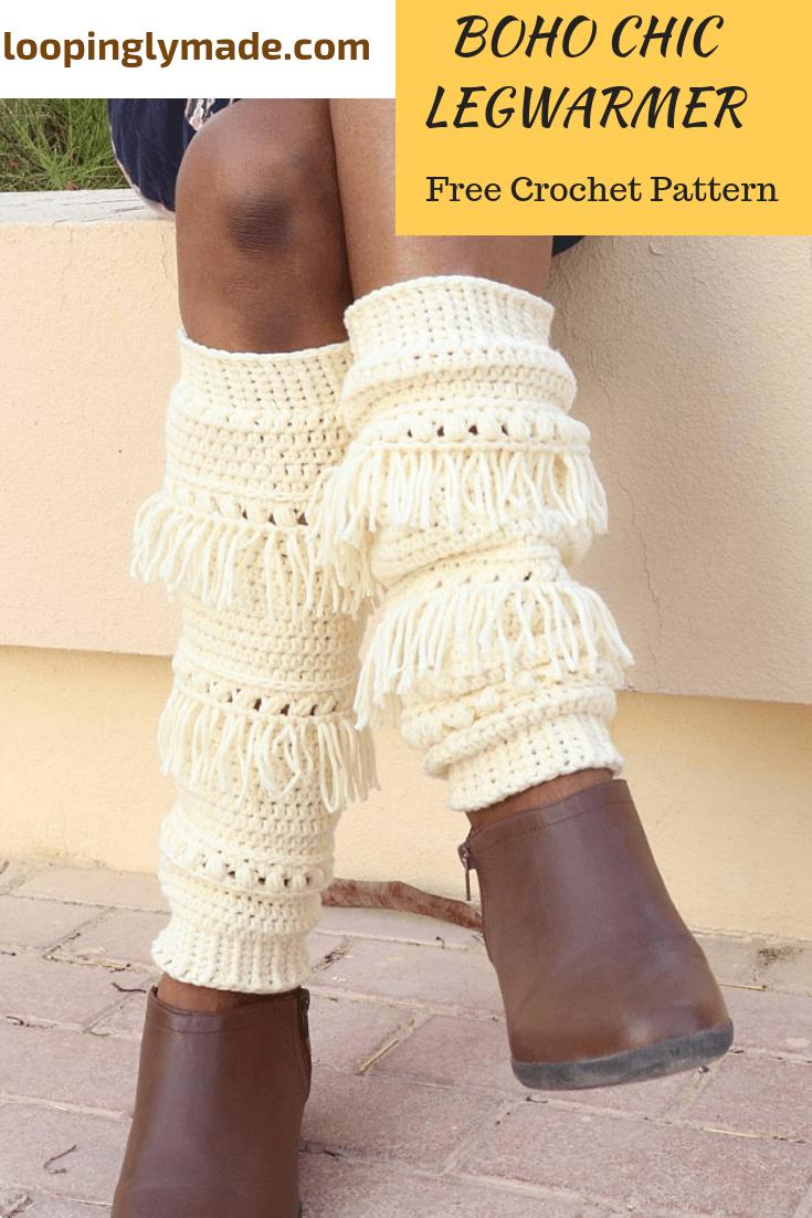 Simple Crochet Legwarmer Pattern- Boho Chic Legwarmer | CROCHET ...