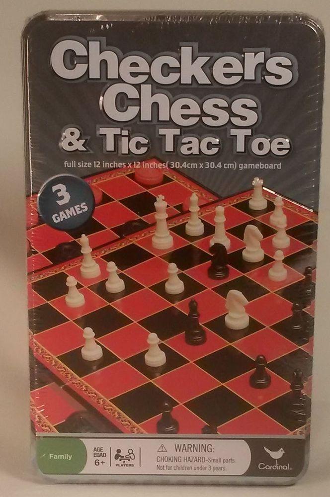 CARDINAL 1 Set Chess Set in a Tin