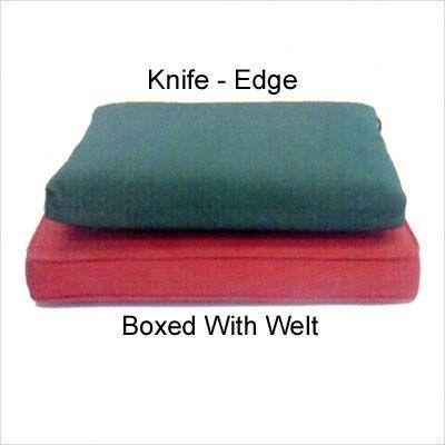 Cushion Edge Detail Knife Vs Box Dining Chair Cushions