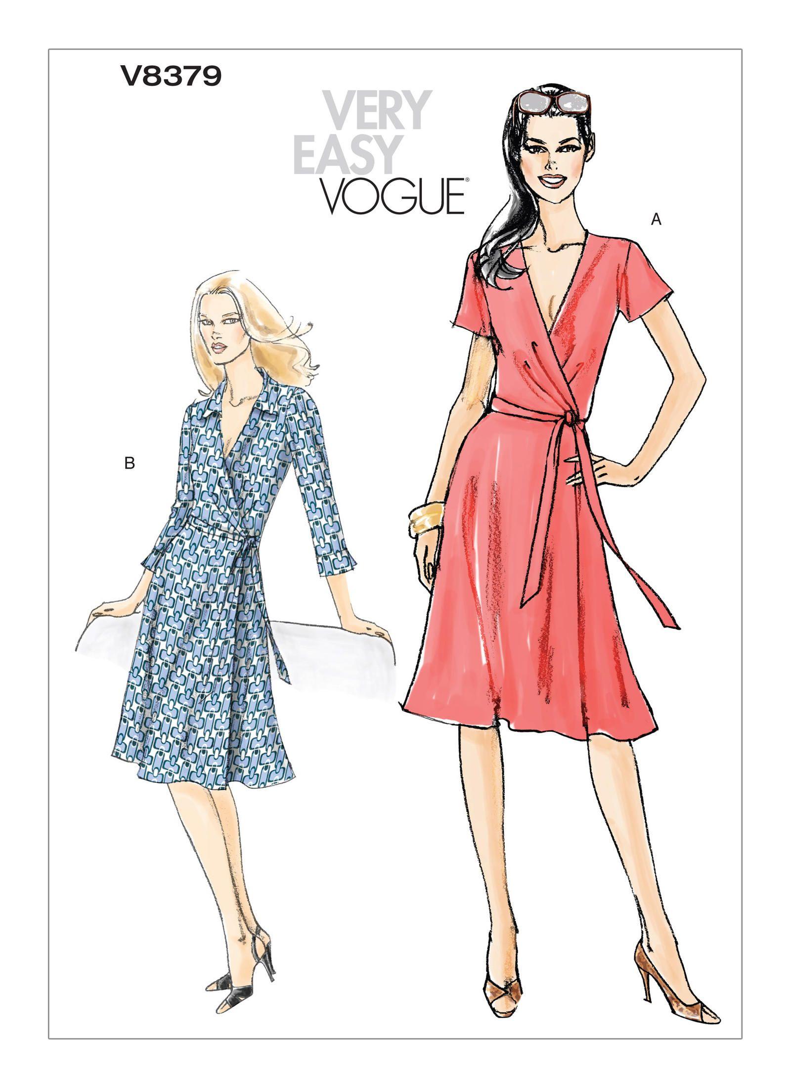 V8379 Vogue Patterns Wrap Dress Sewing Patterns Wrap Dress Pattern Vogue Patterns [ 2200 x 1600 Pixel ]