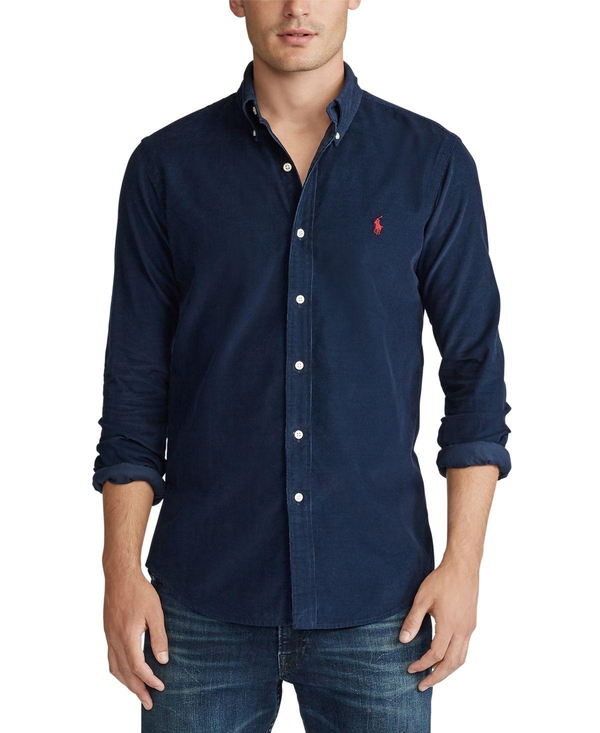 Polo Ralph Lauren Men's Big & Tall Wale Corduroy Sport Shirt & Reviews - Casual Button-Down Shirts - Men - Macy's #shirtsale
