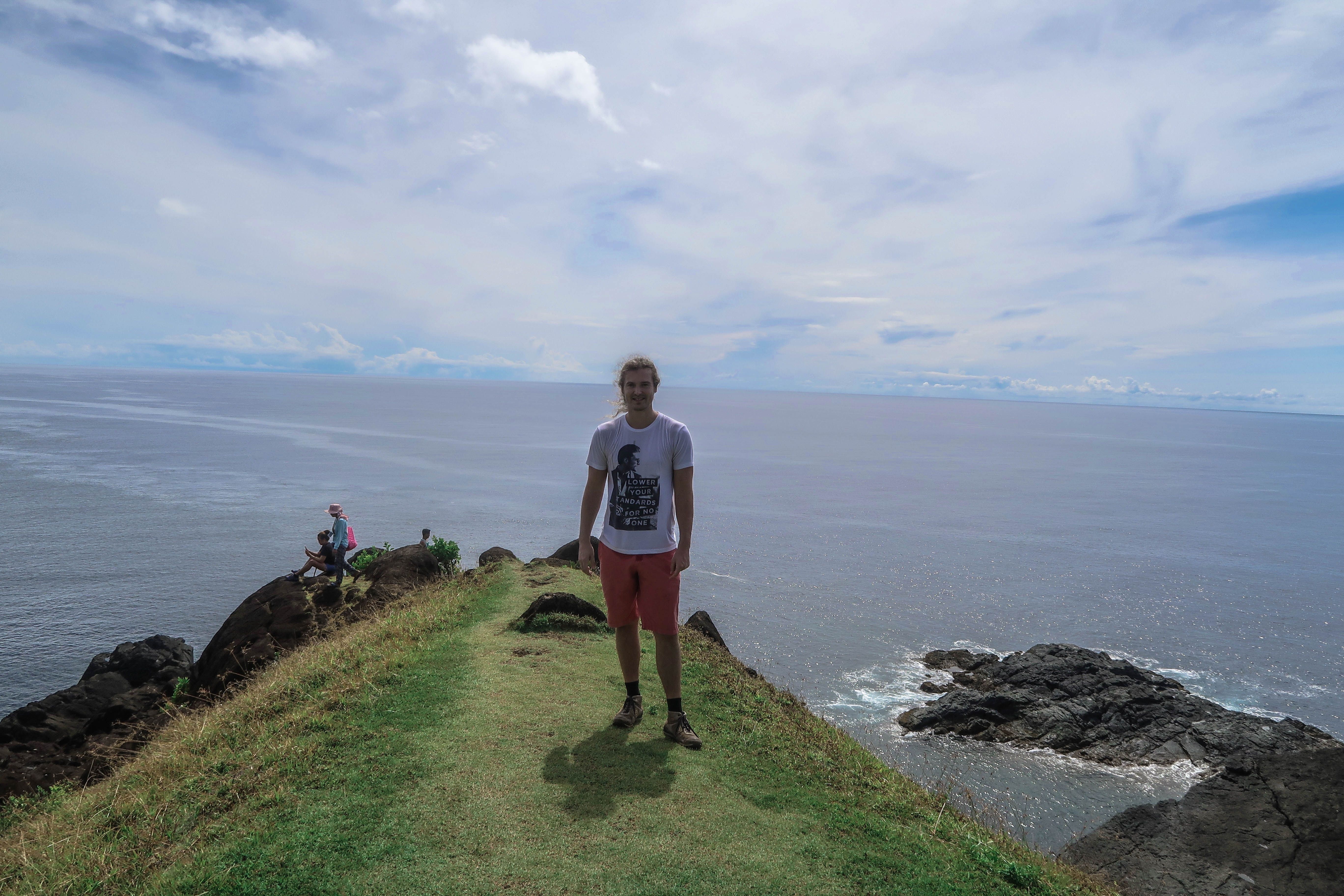Lenny is standing here at Point Binurong natural landmark in Catanduanes, Philippines.