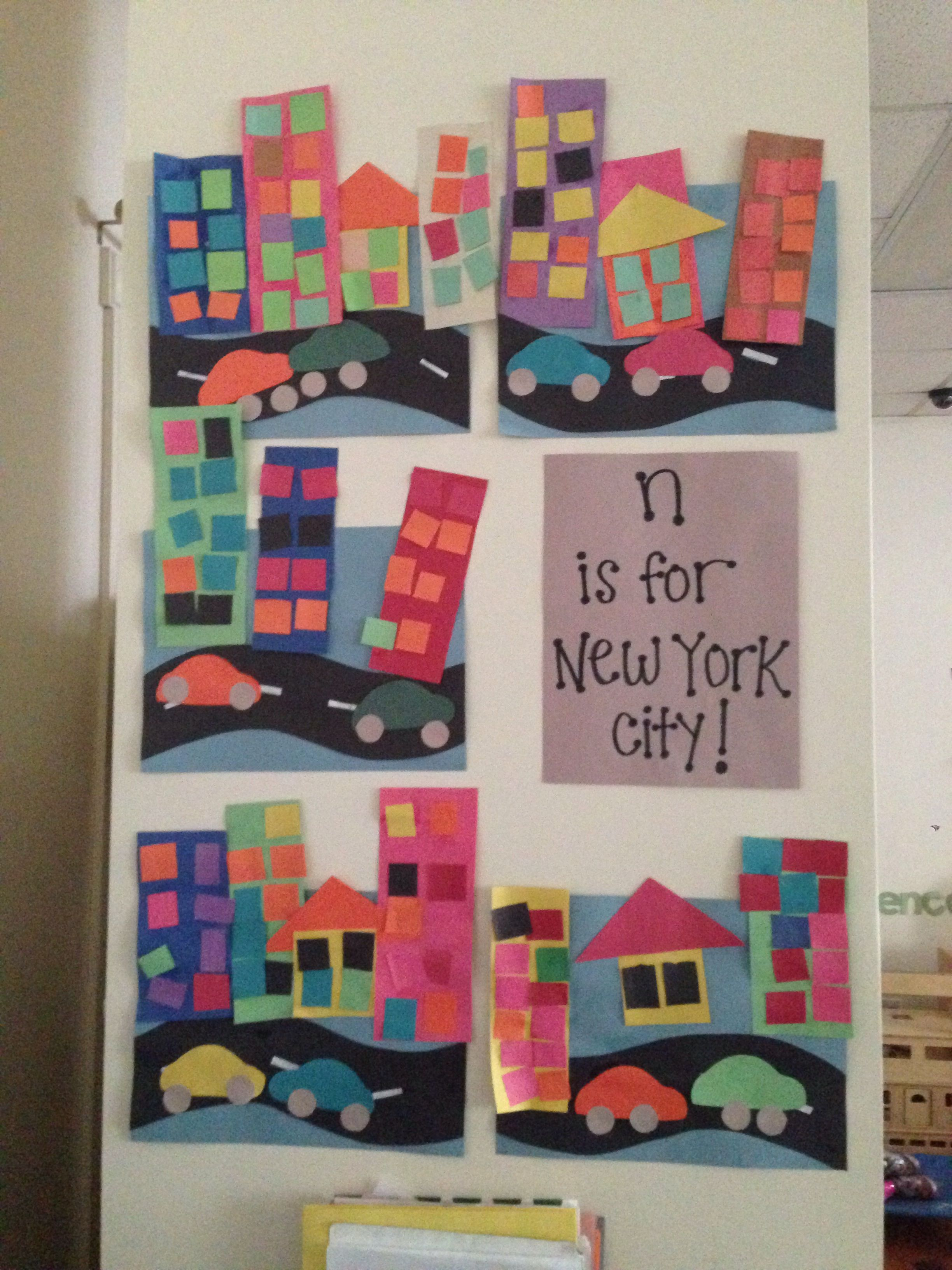craft idea for preschoolers n is for new york city my bulletin boards 3789