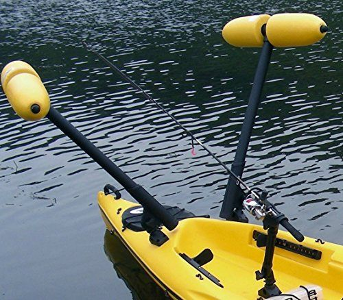 Amazon Com Kayak Or Canoe Outriggers Stabilizers W Yellow