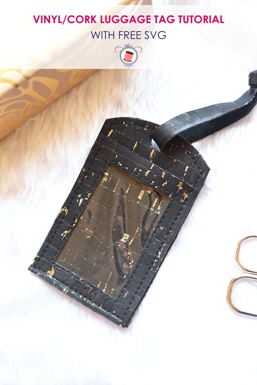 Super Simple Diy Leather Luggage Tags Free Svg Pdf Diy Leather