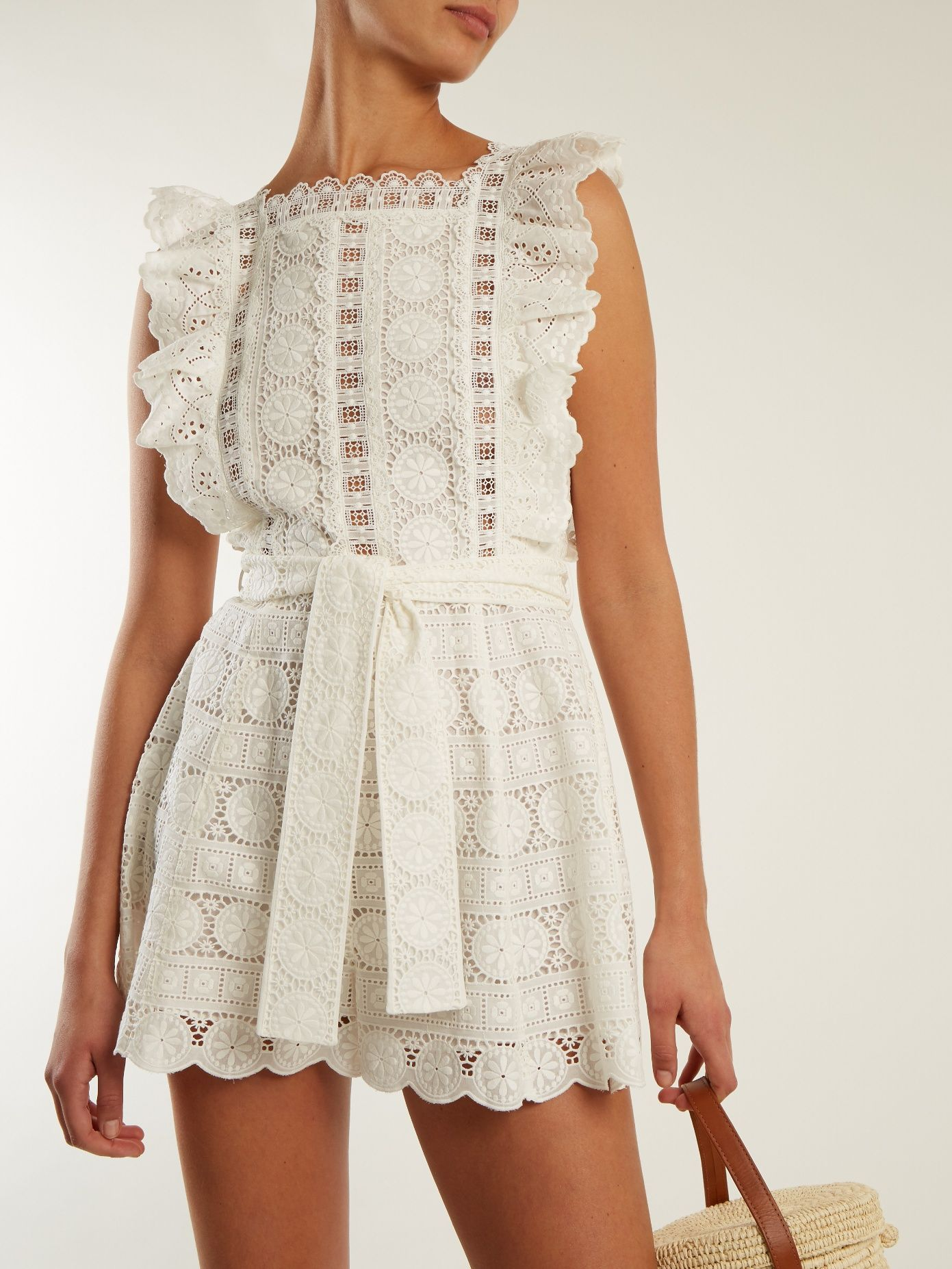 80c35be6ed7 Click here to buy Zimmermann Kali daisy-embroidered wide-leg cotton  playsuit at MATCHESFASHION.COM
