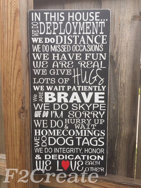 In This House We Do Deployments Military Signs Army Navy Marine Air Force Wall Decor