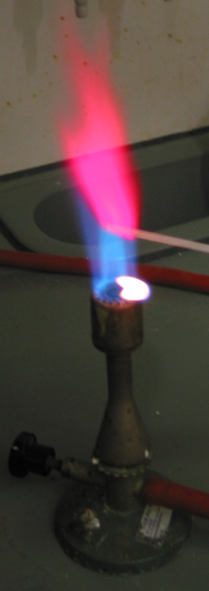metal flame test colors