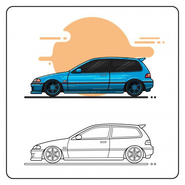 Metalic Blue Car Easy Editable Blue Car Car Collection Car