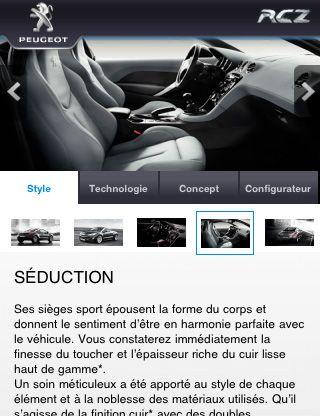 Peugeot App. 4 Platform: iphone