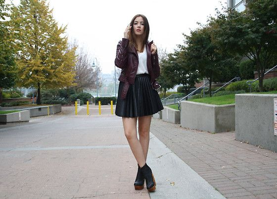Burgundy and Black Leather
