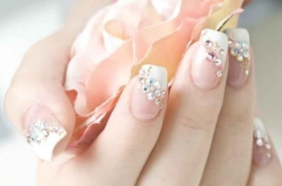 French Nail Art For Wedding Papillon Day Spa
