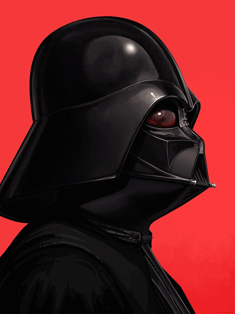 Mike Mitchell Darth Vader print movie poster portrait Star Wars Signed Numbered