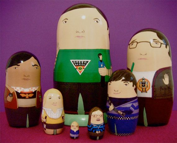 Les poupées de Matryoshka Big Bang Theory